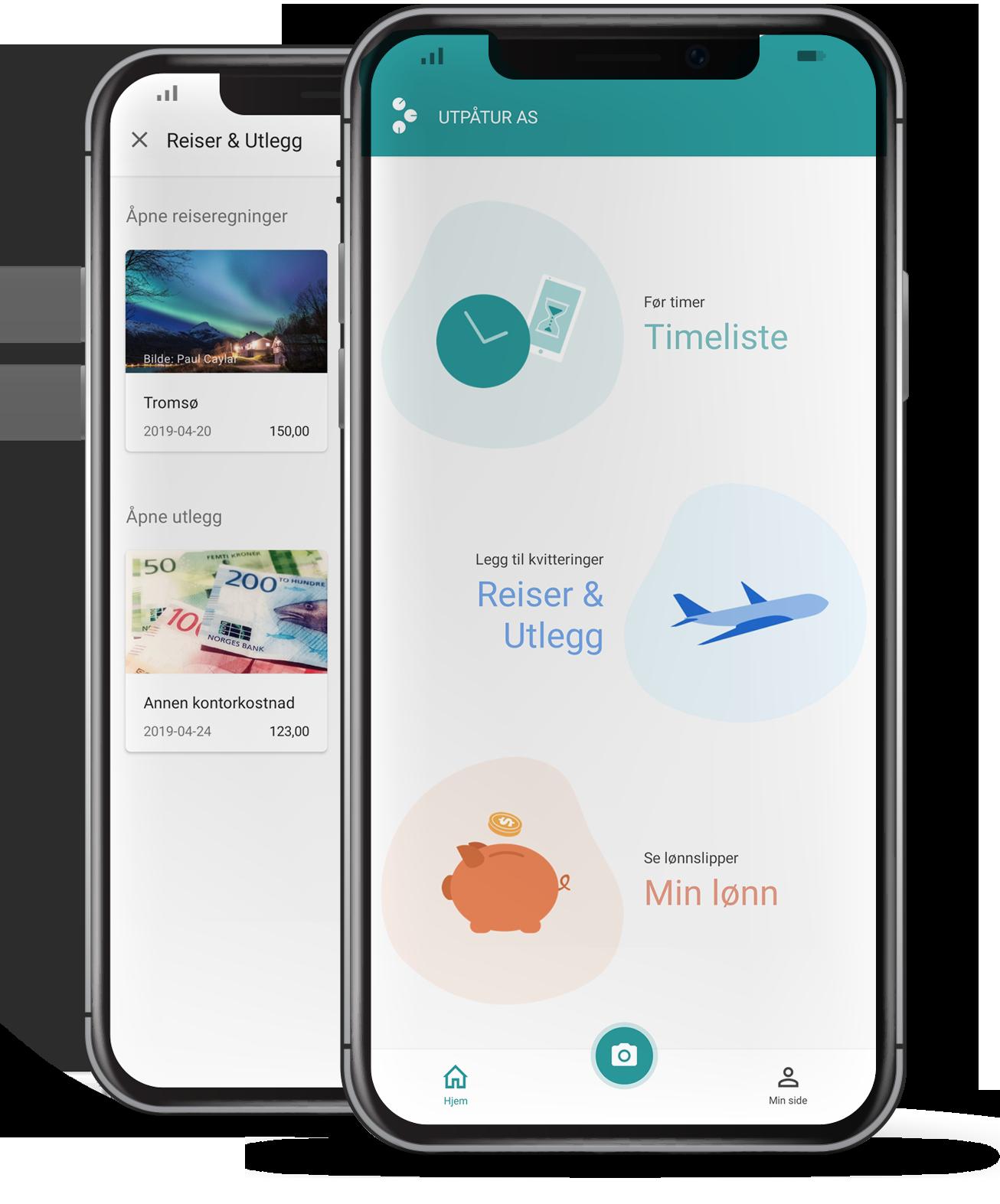 Enkel oversikt og registrering på mobil